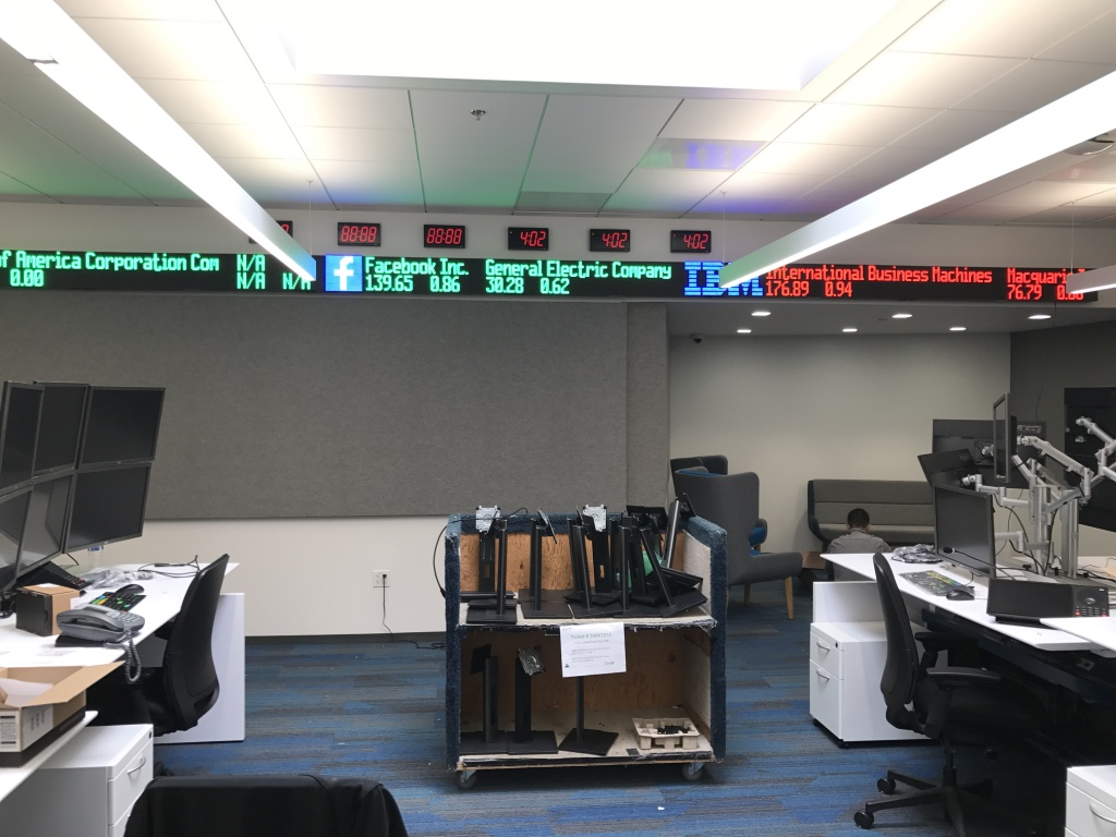 led stock ticker tapes